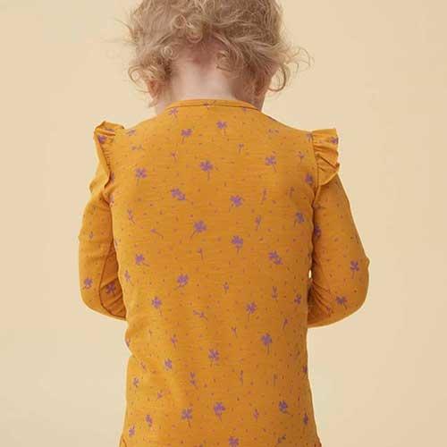 Soft Gallery Fifi Body Sunflower AOP Clover (Romper)-8