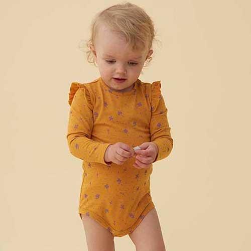 Soft Gallery Fifi Body Sunflower AOP Clover (Romper)-2