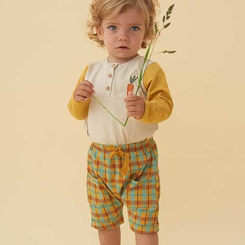 Soft Gallery Flair Shorts Narcissus AOP Check (Korte Broek)-2