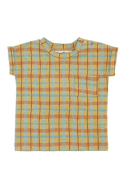 Soft Gallery Frederick T-shirt Narcissus AOP Check (Shirt)