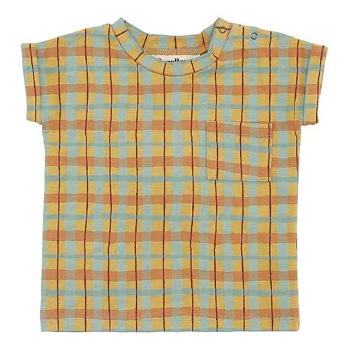 Soft Gallery Frederick T-shirt Narcissus AOP Check (Shirt)-1