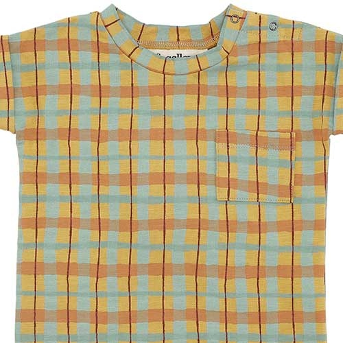 Soft Gallery Frederick T-shirt Narcissus AOP Check (Shirt)-3