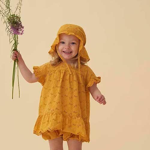 Soft Gallery Fianna Dress Sunflower (Jurk)-7
