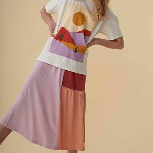 Soft Gallery Florenza Skirt Block SJ SS20 (Rok)-2