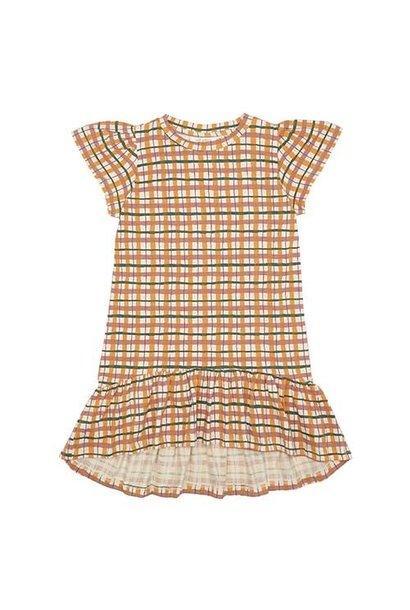 Soft Gallery Fenella Dress Winter Wheat AOP Check (Jurk)