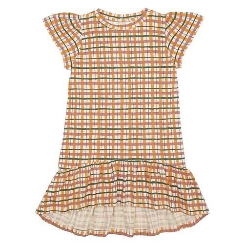 Soft Gallery Fenella Dress Winter Wheat AOP Check (Jurk)-1