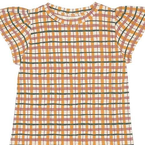 Soft Gallery Fenella Dress Winter Wheat AOP Check (Jurk)-3