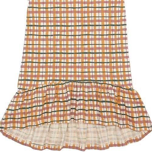 Soft Gallery Fenella Dress Winter Wheat AOP Check (Jurk)-4