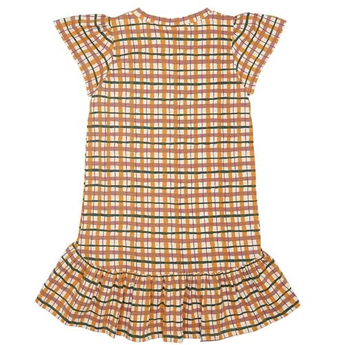 Soft Gallery Fenella Dress Winter Wheat AOP Check (Jurk)-5