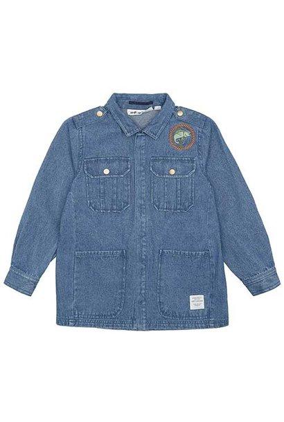 Soft Gallery Aspen Jacket Denim Blue Fishclub Emb (Blouse)