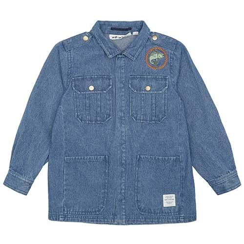 Soft Gallery Aspen Jacket Denim Blue Fishclub Emb (Blouse)-1