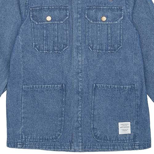 Soft Gallery Aspen Jacket Denim Blue Fishclub Emb (Jas)-4