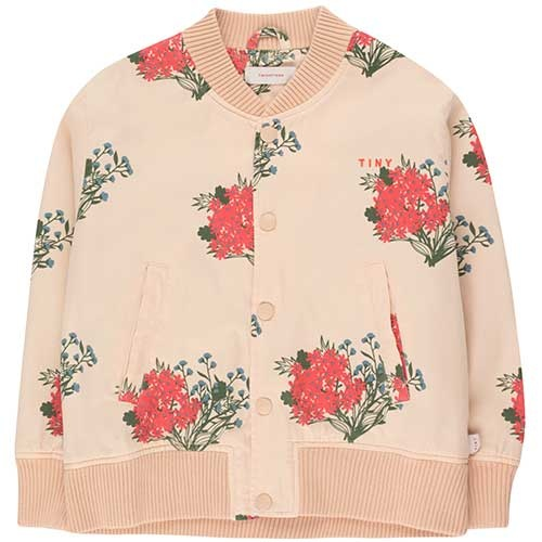 "Tinycottons ""Flowers"" Light Bomber Jacket cappuccino/red (Jas)-1"