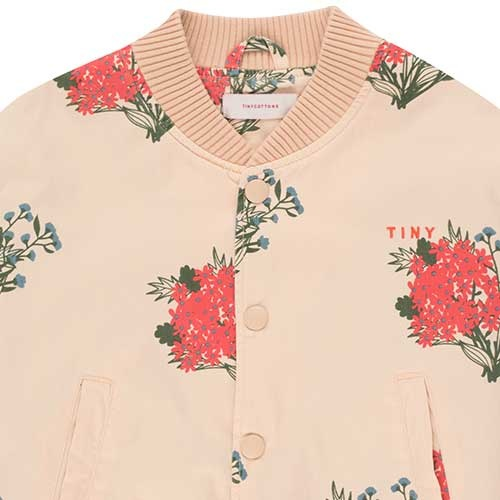 "Tinycottons ""Flowers"" Light Bomber Jacket cappuccino/red (Jas)-2"