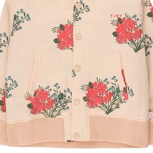 "Tinycottons ""Flowers"" Light Bomber Jacket cappuccino/red (Jas)-3"