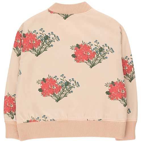 "Tinycottons ""Flowers"" Light Bomber Jacket cappuccino/red (Jas)-4"