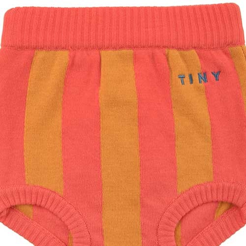 Tinycottons Stripes Bloomer red/brick (Broek)-2