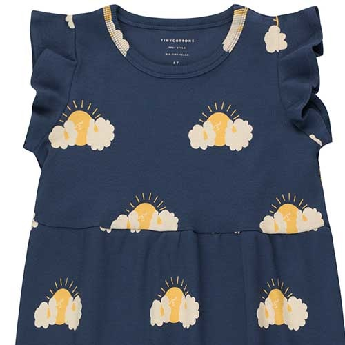 """Tinycottons """"Sleepy Sun"""" Dress light navy/yellow (Jurk)-2"""