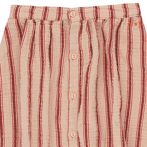 "Tinycottons ""Retro Stripes"" Midi Skirt light nude/dark brown (Rok)-3"