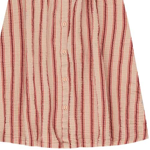 "Tinycottons ""Retro Stripes"" Midi Skirt light nude/dark brown (Rok)-4"