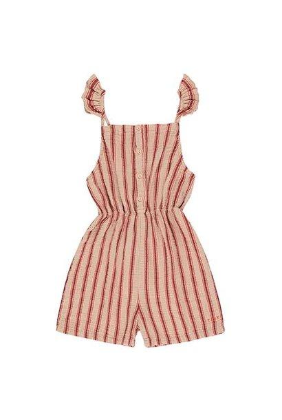 Tinycottons Retro Stripes Salopette light nude/dark brown (Jumpsuit)