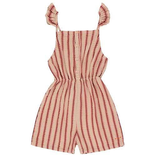 "Tinycottons ""Retro Stripes"" Salopette light nude/dark brown (Jumpsuit)-1"