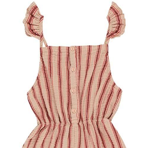 "Tinycottons ""Retro Stripes"" Salopette light nude/dark brown (Jumpsuit)-3"