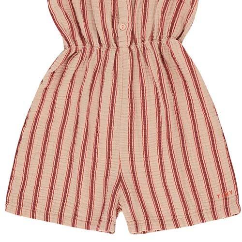 "Tinycottons ""Retro Stripes"" Salopette light nude/dark brown (Jumpsuit)-4"