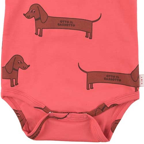 """Tinycottons """"Il Bassotto"""" Body light red/dark (Romper)-3"""