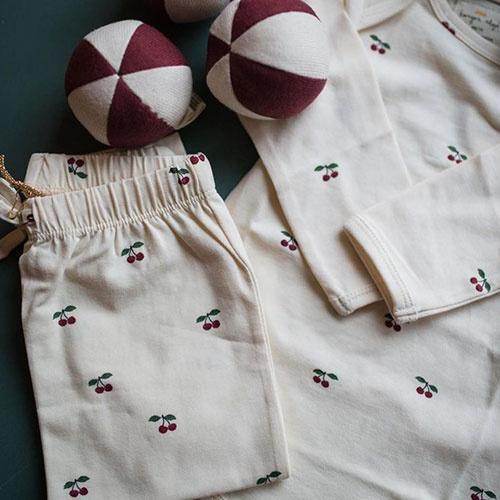 Konges Slojd New Born Pants Cherry (Broek)-2