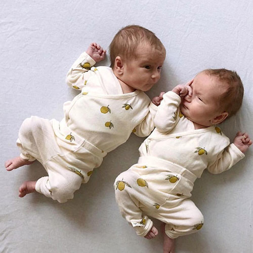 Konges Slojd New Born Pants Lemon (Broek)-5