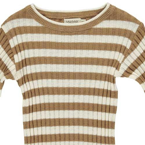 MarMar Copenhagen Toro Linen Mix Knitwear Caramel Stripe (Trui)-4