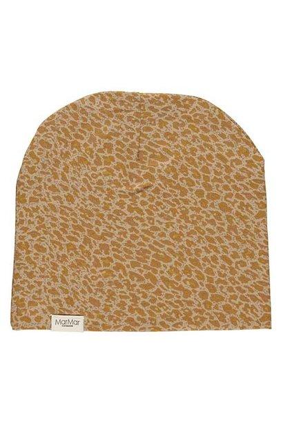 MarMar Copenhagen Leo Beanie Leopard Hat Unisex Pumpkin Pie (Muts)