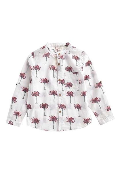 Louise Misha Boys Organic Shirt Amod White Tropical (Blouse)