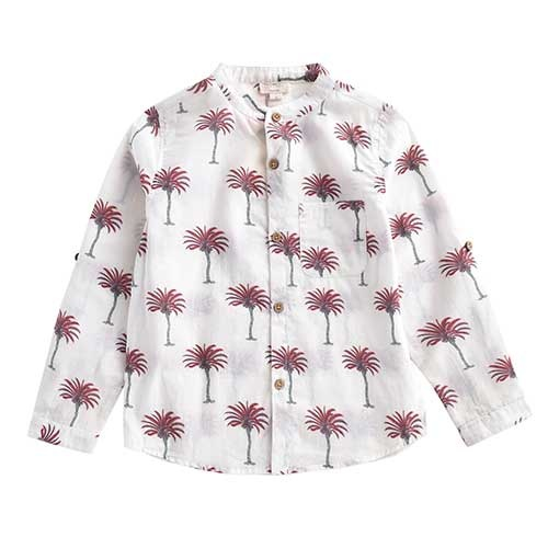Louise Misha Boys Organic Shirt Amod White Tropical (Blouse)-1