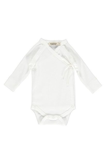 MarMar Copenhagen Belita Newborn Baby Body Gentle White (Romper)