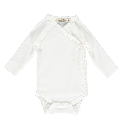 MarMar Copenhagen Belita Newborn Baby Body Gentle White (Romper)-1