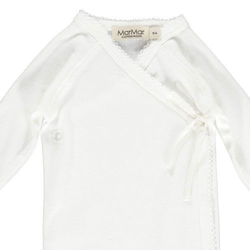 MarMar Copenhagen Belita Newborn Baby Body Gentle White (Romper)-5