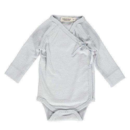 MarMar Copenhagen Belita Newborn Baby Body Pale Blue (Romper)-1