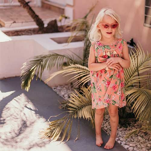 Louise Misha Dress Calkini Sienna Flamingo (Jurk)-3