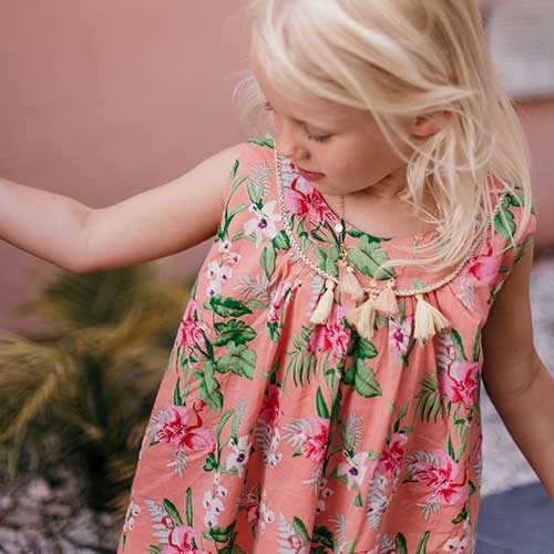 Louise Misha Dress Calkini Sienna Flamingo (Jurk)-4