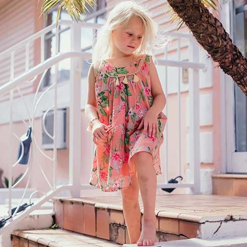Louise Misha Dress Calkini Sienna Flamingo (Jurk)-2