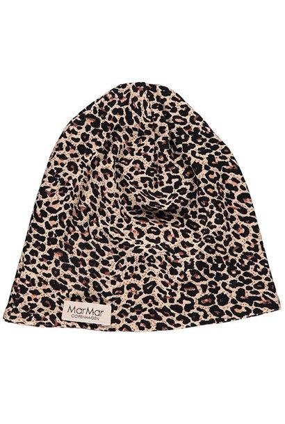 MarMar Copenhagen Leo Beanie Leopard Hat Brown Leo Panterprint (Muts)
