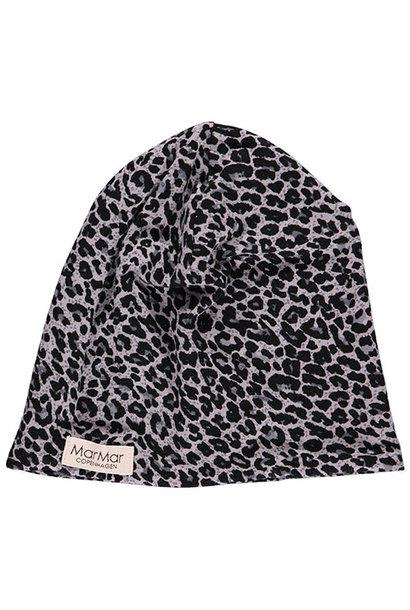 MarMar Copenhagen Leo Beanie Leopard Hat Grey Leo Panterprint (Muts)