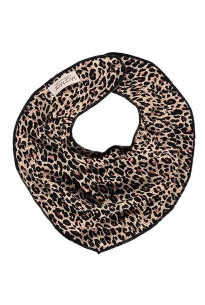 MarMar Copenhagen Leo Dry Bib Brown Leopard Panterprint (Halsdoekje)