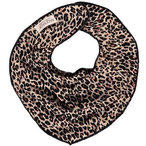 MarMar Copenhagen Leo Dry Bib Brown Leopard Panterprint (Halsdoekje)-1