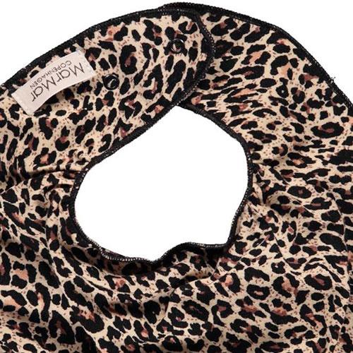 MarMar Copenhagen Leo Dry Bib Brown Leopard Panterprint (Halsdoekje)-2