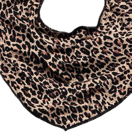 MarMar Copenhagen Leo Dry Bib Brown Leopard Panterprint (Halsdoekje)-3