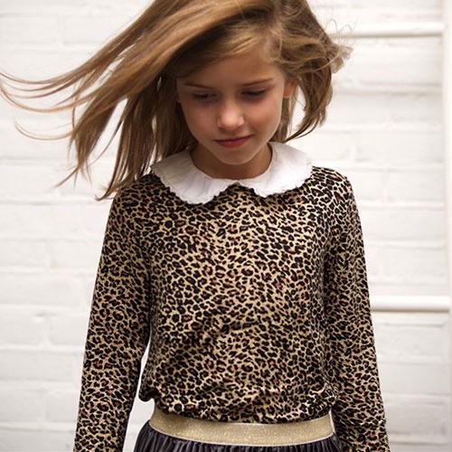 MarMar Copenhagen Leo Tee LS Brown Leo (t-shirt)-4