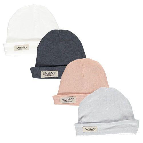 MarMar Copenhagen Aiko Newborn Hat Gentle White (Babymuts)-3